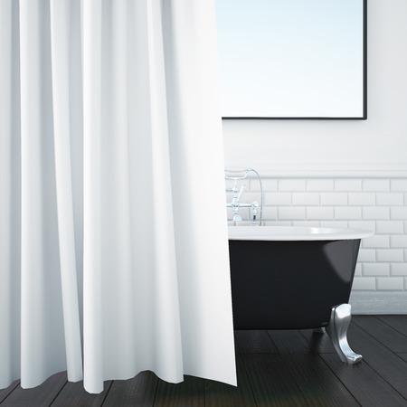 3d rendering interior of a bathroom
