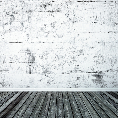 wooden floors: old interior grunge style with wooden floors Stock Photo