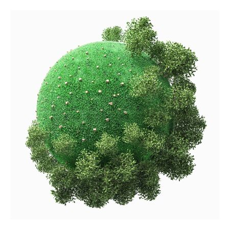 deforestation: the concept of a small planet with the problem of deforestation Stock Photo