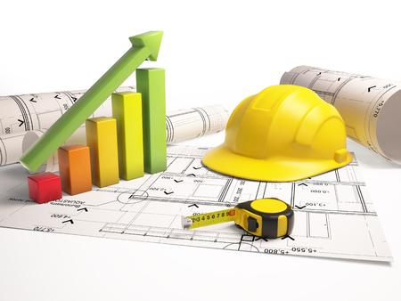 architectural drawings: Architectural drawings with construction tools
