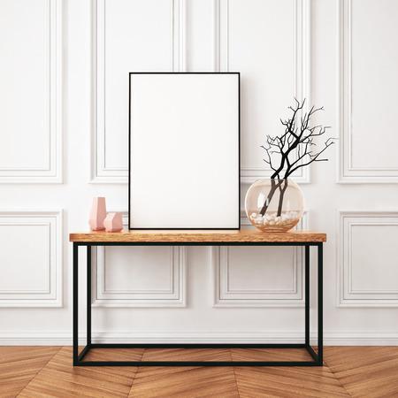 Mockup Plakat im Interieur im klassischen Stil Standard-Bild - 64721091