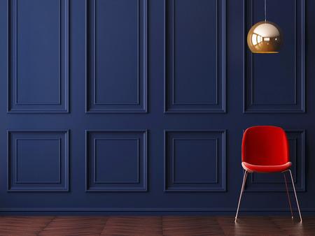 Mockup Poster in art deco style interior. 3d render. 3d illustration. Archivio Fotografico