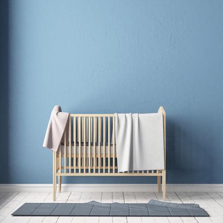 Kinderzimmer im skandinavischen Stil. 3D-Darstellung. Standard-Bild - 87129199