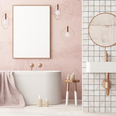 mock up bathroom