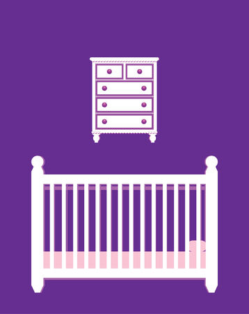 baby room furniture Illustration