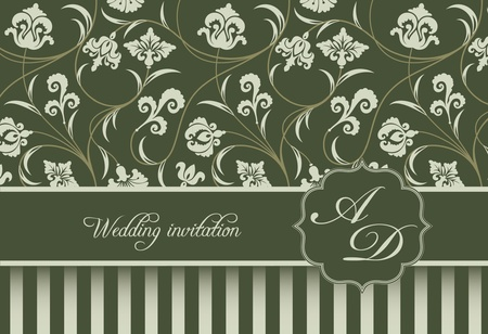 Vector two-tone background wedding invitation