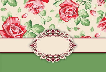 rococo: Vector floral background