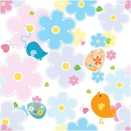 Vector pattern with easter eggs  Illustration
