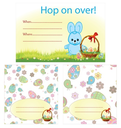 easter invitation card and placements