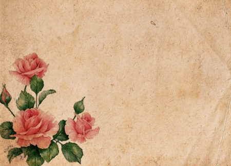 Beautiful vintage retro background with roses Stock Photo