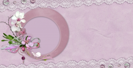 purple dreams romantic frame background
