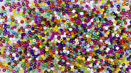 Colorful beads on a white background Stockfoto