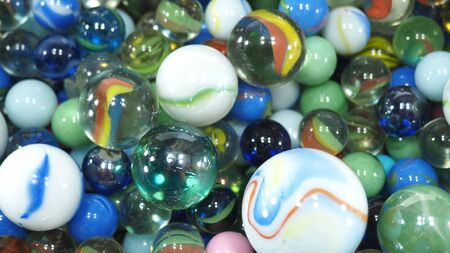 Colorful and transparent some marbles