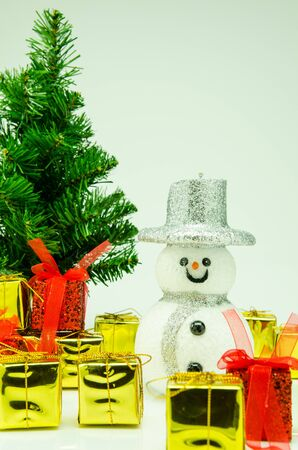 Festival to celebrate Christmas  With gift and snowman