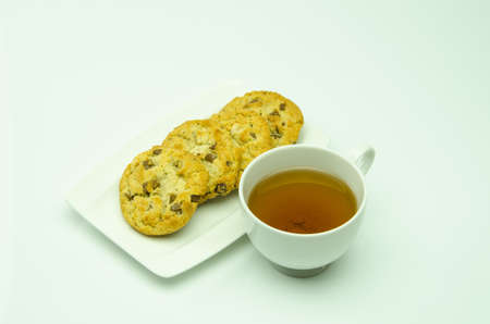 Tea and cookies in the afternoon perfect  Stock Photo