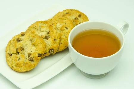 Tea and cookies chocolate mixture trees