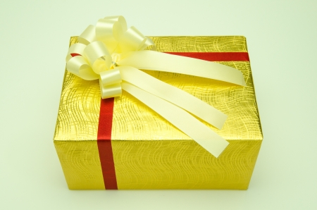 Golden gift box that is interesting to witness.