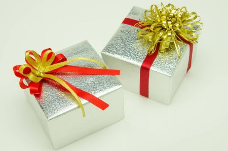 Gift boxes made up to the shooting.