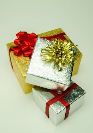 Gift boxes are preparing to celebrate the new year.