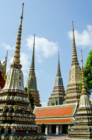 Pagoda at large to stand in line for  Wat Pho, Thailand