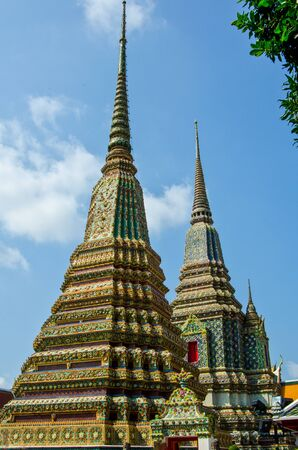 The elegance of the pagoda in Wat Pho, Thailand
