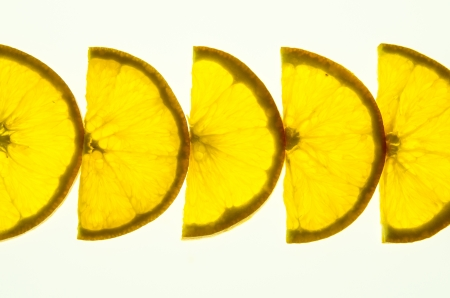 cutting a piece of orange meat  Then the same sort