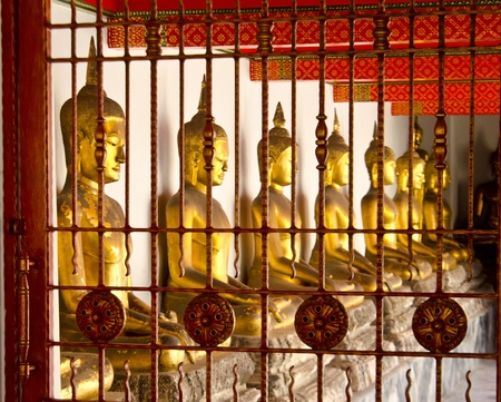 buddhist in the coop at watpo thailand