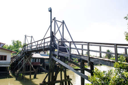 Wooden bridge that used to connect the call between the two canals.