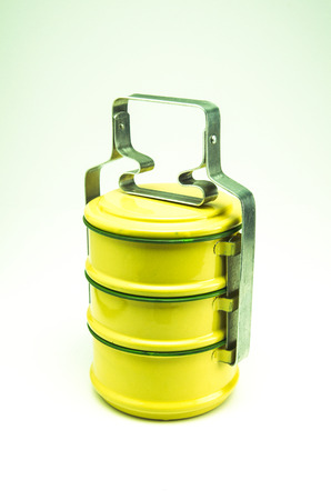 Tiffin food container. Container with a long tradition Thailand. photo
