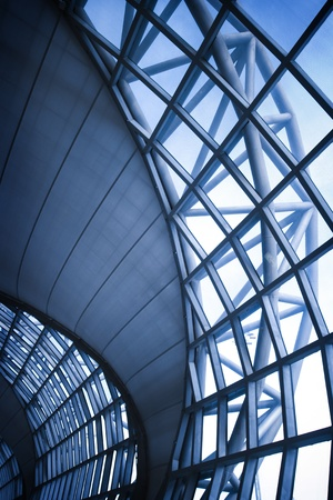 Modern Architectural window in airport photo