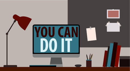 YOU CAN DO IT. WORKPLACE vector Vector