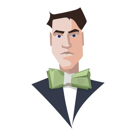 rich man: Rich man business vector illustration