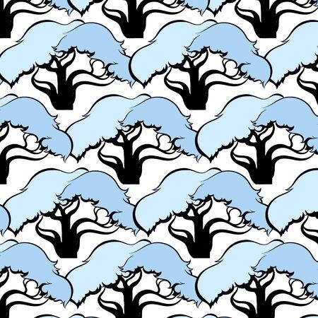pattern of trees vector illustration Vector