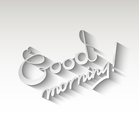good nature: Good morning vector design illustration