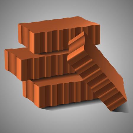 material: Bricsk building material vector illustration Illustration
