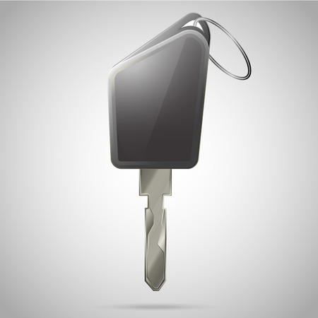 remote lock: Llave del coche ilustraci�n vectorial realista