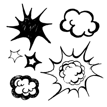 comics balloons illustration vector black