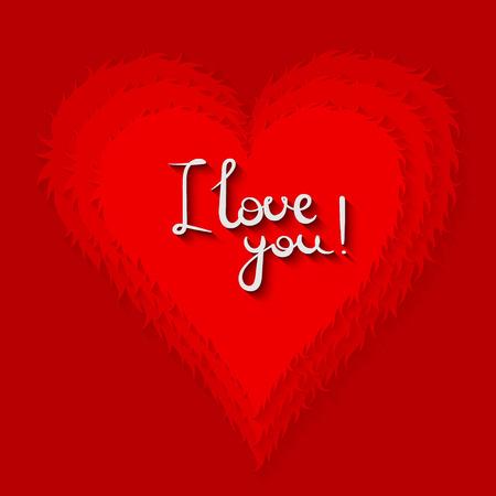i love you heart: I love you Heart vector
