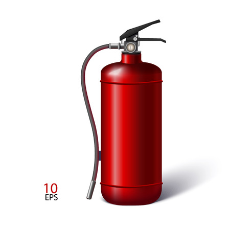 realistic fire extinguisher vector illustration Vector