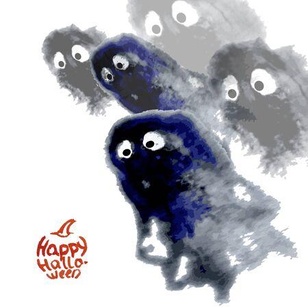 stumble: ghost halloween creepy vector illustration Illustration
