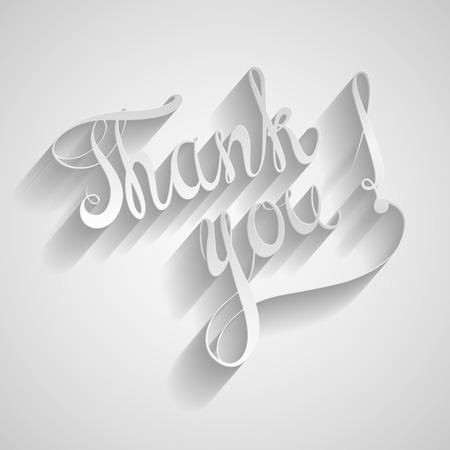 merci: Merci. vecteur d'�tiquettes de papier