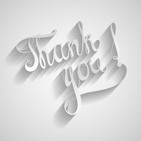 thanks you: Thank you. paper label vector Illustration