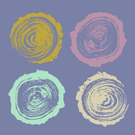 tree rings nature vector illustration