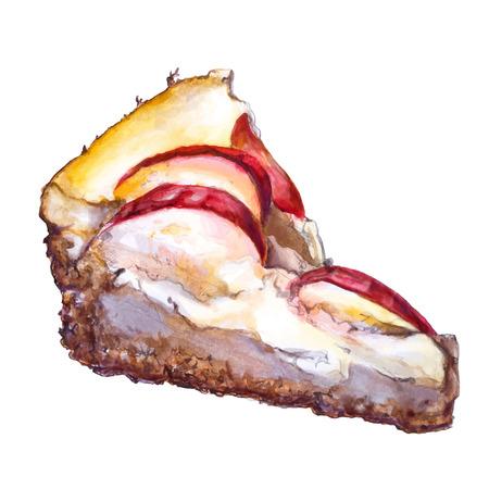 apple pie tasty vector illustration