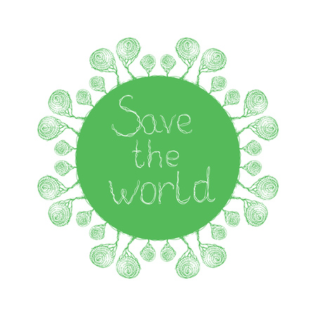 buble: Save the world buble trees Illustration
