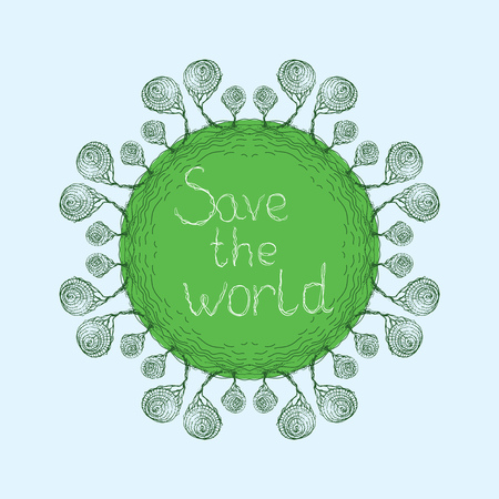buble: Save the world, buble trees card