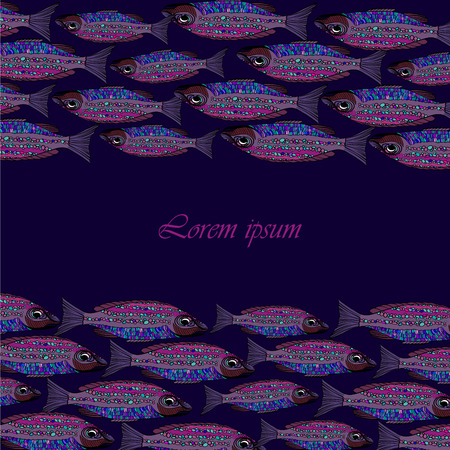 school of fish: Background with fishes.Seafood restaurant menu. School of fish. Fishing.