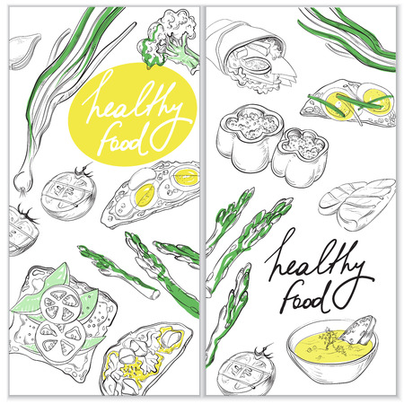 hearty: Healthy and Hearty Food. Organic restaurant banner template