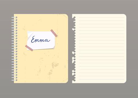 Conjunto De Páginas De Cuaderno Con Pegatinas, Cintas De Colores ...