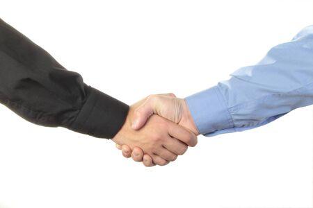 Businessmen shaking hands isolated on white background Stock Photo - 8780717